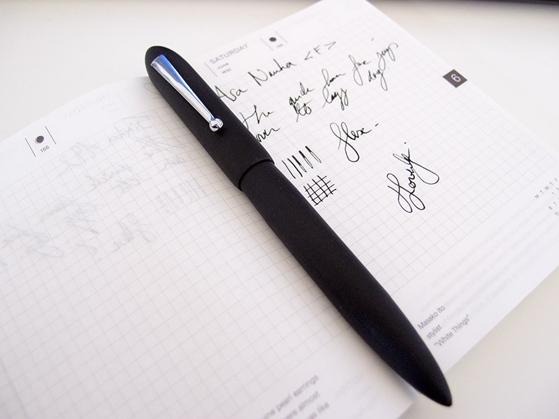 ASA Nauka Brushed Ebonite Fountain Pen Review